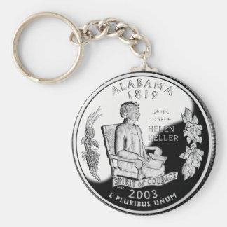 Alabama-Staats-Viertel Standard Runder Schlüsselanhänger
