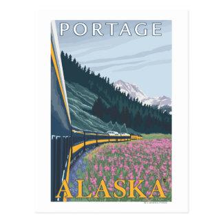 Alaska-Eisenbahn-Szene - Portage, Alaska Postkarte