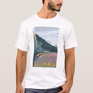 Alaska-Eisenbahn-Szene - Portage, Alaska T-Shirt