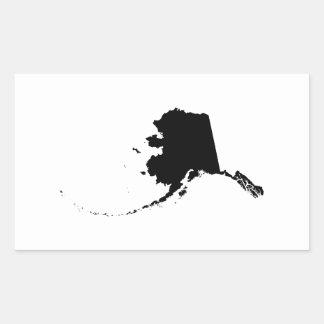 Alaska im Schwarzen Rechteckiger Aufkleber