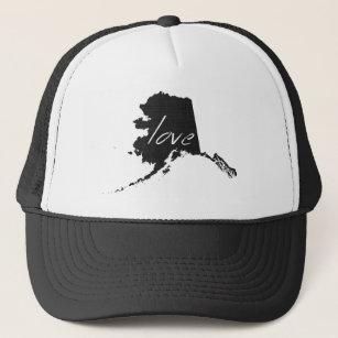 Alaska-Liebe-Baseball-Art-Fernlastfahrer-Hut Truckerkappe
