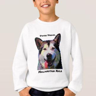 Alaskischer Malamute-Blendungs-Jungen-Sweatshirt Sweatshirt