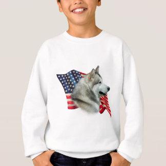 Alaskischer Malamute-Flagge Sweatshirt
