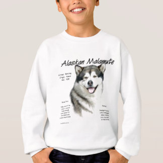 Alaskischer Malamute-Geschichtsentwurf Sweatshirt