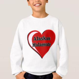 Alaskischer Malamute-Herz Sweatshirt