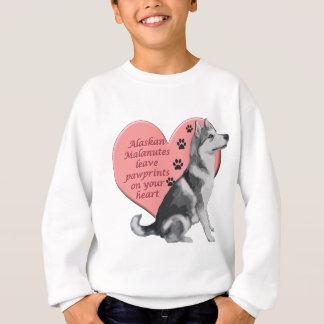 Alaskischer Malamute Pawprints Sweatshirt