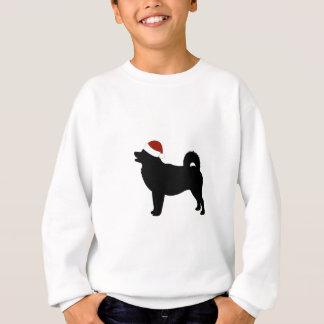 Alaskischer Malamute-Weihnachtsmannmütze Sweatshirt