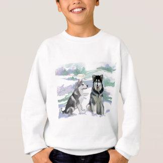 Alaskischer Malamute-Winter-Szene Sweatshirt