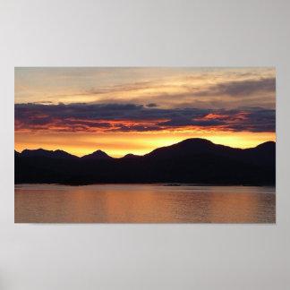 Alaskisches schöne Alaska Fotografie des Poster