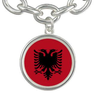 Albanien-Flagge Armband