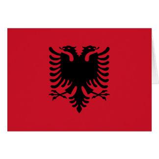 Albanien-Flagge Karte