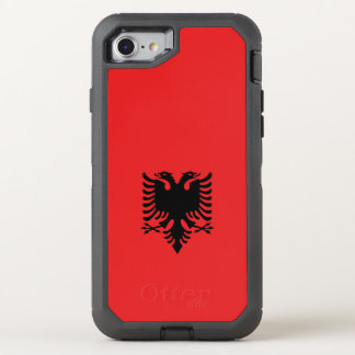 Albanien-Flagge OtterBox Defender iPhone 7 Hülle