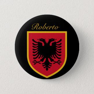 Albanien-Flagge Runder Button 5,7 Cm