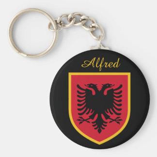 Albanien-Flagge Schlüsselanhänger