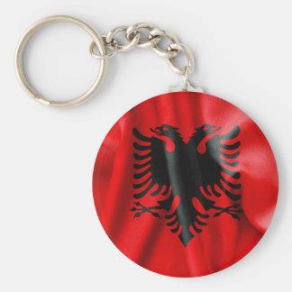Albanien-Flaggen-Knopf Keychain Schlüsselanhänger