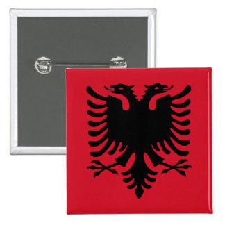 Albanien Quadratischer Button 5,1 Cm