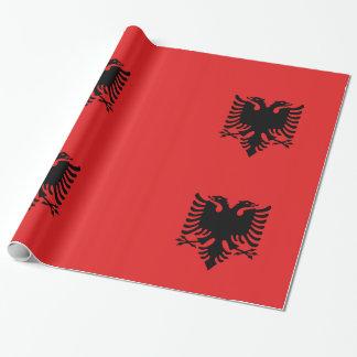 Albanien-Rot Geschenkpapier