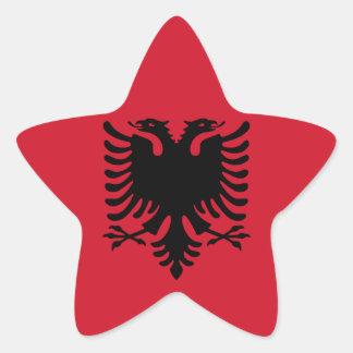 Albanien Stern Aufkleber