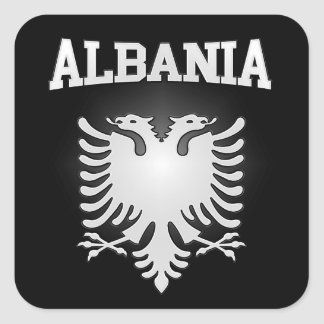Albanien-Wappen Quadratischer Aufkleber