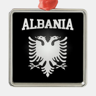 Albanien-Wappen Silbernes Ornament
