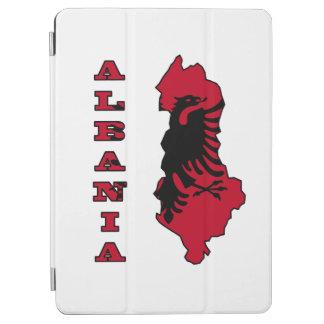 Albanische Flagge in der Kontur-Karte von Albanien iPad Air Hülle