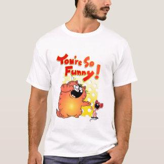 Alberne Cartoon-Katze + Alberne Cartoon-Maus der T-Shirt