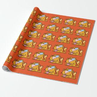 Alberne der Zombie-Katzen-Mattverpackungs-Papier Geschenkpapier
