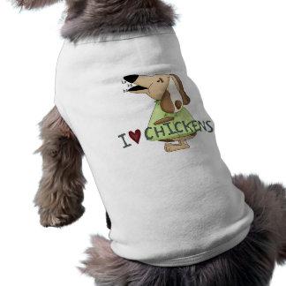 Alberne Liebe-Huhn-ha ha ha des Hundi Ärmelfreies Hunde-Shirt