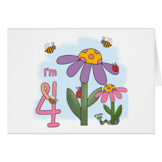 Alberner Garten-4. Geburtstag Karte