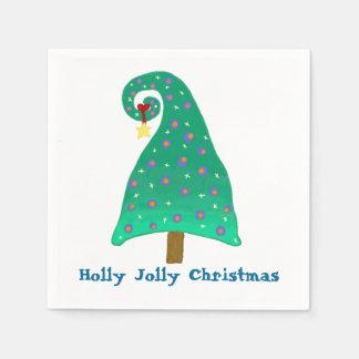 Alberner Weihnachtsbaum Papierserviette