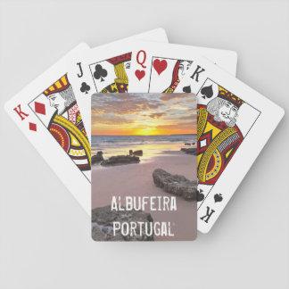 Albufeira - Portugal. Sommerferien in Algarve Spielkarten