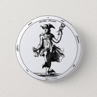 Alchemical Mercury und Caduceus Runder Button 5,7 Cm