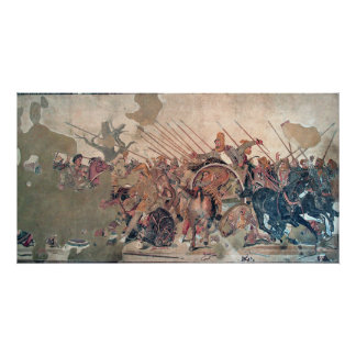 Alexander bei Issus Poster