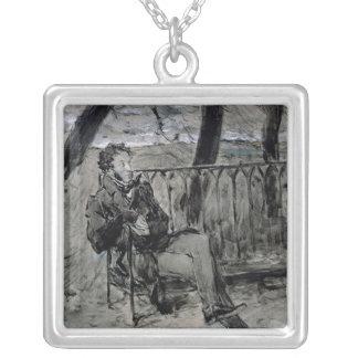 Alexander Pushkin in einem Park, 1899 Halskette Mit Quadratischem Anhänger