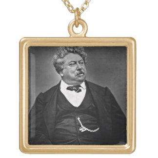 Alexandre Dumas pere (1802-70), von 'Galerie Inh. Halskette Mit Quadratischem Anhänger