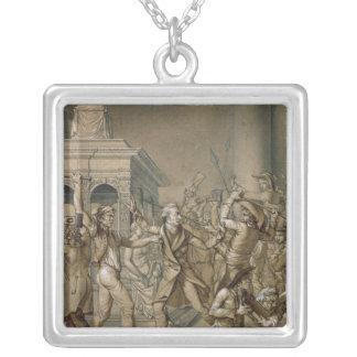 Alexandre Lenoir, welche der Zerstörung entgegense Halskette Mit Quadratischem Anhänger