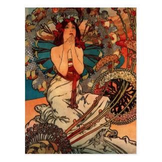 Alfons Mucha Monaco Monte Carlo Postkarte