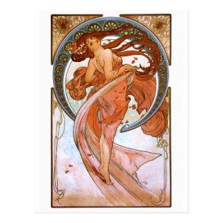 Alfons Mucha: Tanz Postkarten