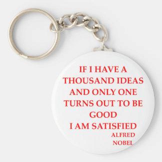 Alfred Nobel Standard Runder Schlüsselanhänger