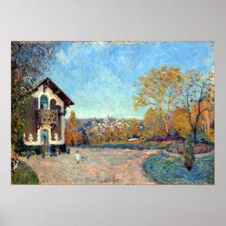 Alfred Sisley-Ansicht von Mergelig-Le-ROI von Poster