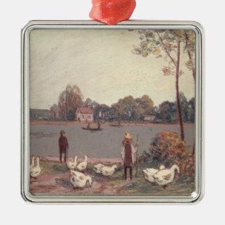 Alfred Sisley | auf den Banken des Loing Silbernes Ornament