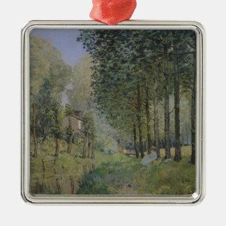 Alfred Sisley | die Erholung durch den Strom Silbernes Ornament