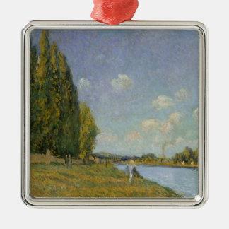 Alfred Sisley | die Seine bei Billancourt Silbernes Ornament
