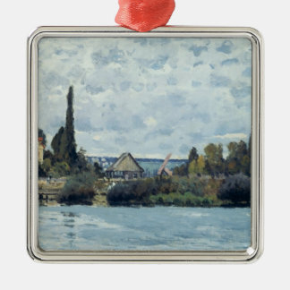 Alfred Sisley | die Seine bei Bougival Silbernes Ornament