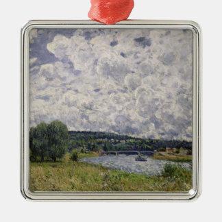 Alfred Sisley | die Seine bei Suresnes Silbernes Ornament