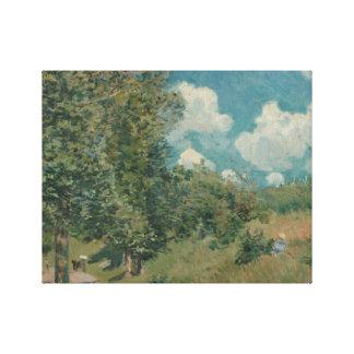 Alfred Sisley - die Straße von Versailles Leinwanddruck