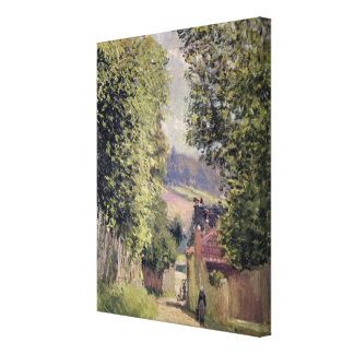 Alfred Sisley | eine Straße in Louveciennes Leinwanddruck