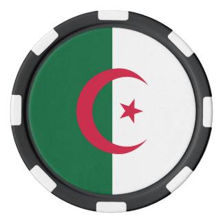 Algerien-Flagge Poker Chips Set