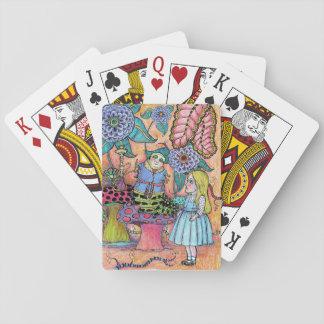 Alice im Wunderland, Alice trifft die Raupe Spielkarten