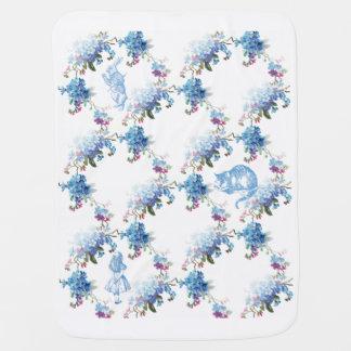 Alice im Wunderland-blaue Blumenbaby-Decke Babydecke